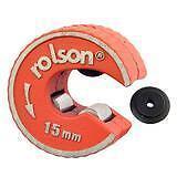 Conducto de cobre 15mm Cortador de Tubo Auto Bloqueo Giratorio & Cortador de Repuesto Rolson