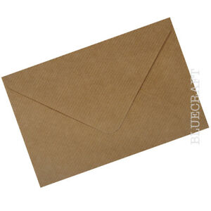 10 x C5 Brown Ribbed Kraft 100gsm Envelopes 162 x 229mm - 6 x 9 inches approx