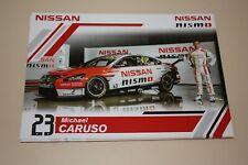 Michael Caruso V8 Supercars Driver Card Nissan Nismo