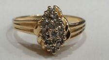 Genuine Diamond & 14k Gold Ladies ring, finger size 6.25
