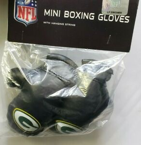 Green Bay Packers NFL Mini Boxing Gloves Rear view Mirror Auto Car Truck A60