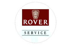 Rover Service Window Sticker 53mm Diameter for Mini MGF 75 ZR ZS ZT Touring etc