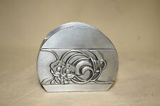 SEAGULL PEWTER ART NOUVEAU MATCH / TOOTHPICK HOLDER 6318