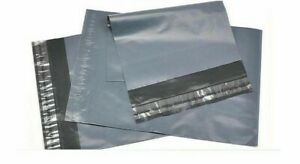 """4 x 7"""" Grey Mailing Bags Strong Self Seal Poly Postal Post Waterproof Pack of 50"""
