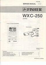 Fisher service manual istruzioni wxc-250 b1478