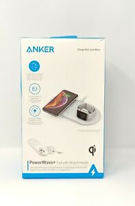 Anker Wireless Charger, 2 in 1 PowerWave+ Pad with Apple Watch Holder