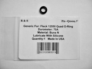 Fleck 12550 Quad O-ring / Brine system Assembly  / R&S Q009F / Buna n Material