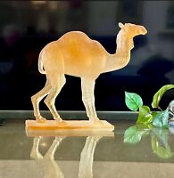 Daum French Chrystal Pate de Verre Camel Sculpture Mint Signed Gorgeous