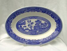 Buffalo China Blue Willow Large Platter Restaurant Vintage AS IS