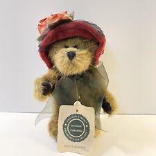 Boyds Bears Sylvia G. Bearimore #918438 2000 6� Plush Scarlet Hat