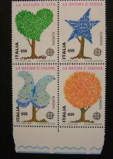 1986  Italia quartina   La Natura è Poesia  650 lire     bdf   MNh**