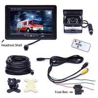"""12V-24V Bus Truck IR Rear View Backup Camera +7"""" Color TFT LCD Car Monitor Kit"""
