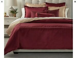 Hotel Collection Luxe Border KING Duvet Cover Red New Without Tag