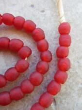 African Red Glass Beads [64157]