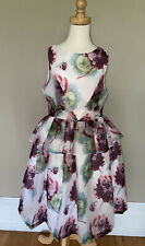 Janie And Jack White Floral Organza Party Dressy Dress 10 NWT