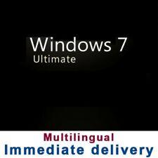 Microsoft Windows 7 Ultimate  - 32/64 bit - Multilanguage - 100% Original