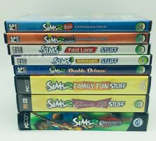 Lot of 8 The Sims 2, 3 Expansion Packs & Stuff Games All Tested
