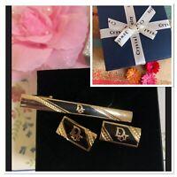 🌹Dior Stylish & Stunning Cufflinks & Tie Clip Set  Gold Plated Jewellery🌹