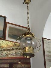 Occasione lampadario lampara navale in ottone stile marina qualità sospensione