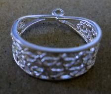 8 elegant scarf jewelry slider bail ring pendant charm slide tube necklace bail