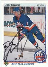 DOUG CROSSMAN Autographed Signed 1990-91 Upper Deck card New York Islanders COA