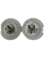 vintage bird plates
