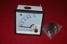 AC 0-50A Analog Ammeter Panel AMP Current Meter 72*72mm directly Connect