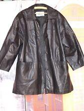 Amplio chaquetón 3/4 Mujer autentica piel napa trabajada talla 48 Italiana
