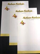 Lot Of 3 Color Letterhead Neuhauser Hatcheries Napoleon Ohio Agricultural Farm