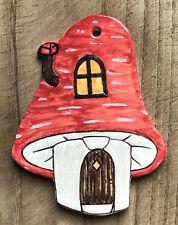 Ceramic Wall/Door Plaque, Mushroom design, Handmade in the UK