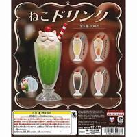 Kitan Club cat drink Gashapon 5 set mini figure capsule toys