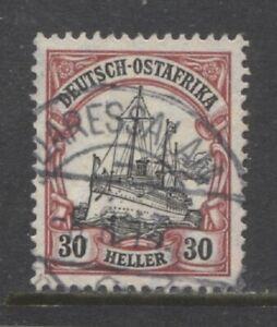 1906 German colonies EAST AFRICA  30 Heller Yacht  used  DARESSALAM  $ 13.00