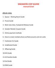Sneakers Cop Guide Manual & Bot eBook