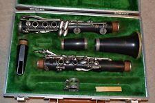 Boosey & Hawkes 2-20 Intermediate Wood Clarinet Original Hard Case FREE SHIPPING