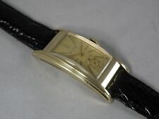 SERVICED 1930`s BULOVA  *THE PRESIDENT * SUPER LONG  & ETCHED CASE ...REFINISHED