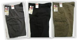 Wrangler Cargo pants Relaxed fit straight leg Black/Brown/Grey 100% cotton NWT