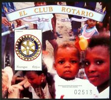 2000 MNH NICARAGUA ROTARY STAMPS SOUVENIR SHEET ROTARY INTERNATIONAL CLUB