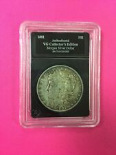 Authenticated United States Silver Morgan Dollar VG+ OR Peace Dollar VG+ (pick1)