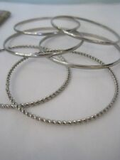 Smart Silver Bangles - 6 of them FREE Postage