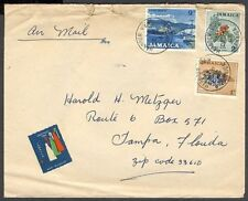 JAMAICA 1965 HARBOUR VIEW CINDERELLA LABEL COVER TO US (ID:621/D28222)