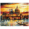 Sunset in Venice Paint by Numbers Kit Canvas Frame Unframed DIY Gift 40x50