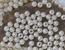 50 Perlen perlmutt champagner creme Hochzeit Wachsperlen 10mm Perle mit Loch
