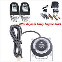 Car Auto SUV Alarm System Keyless Entry Engine Start Push Button Remote Starter