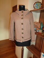 CASCH BY GRO ABRAHAMSSON TWEED WOOL BLEND GEOMETRIC PRINT SHORT FITTED JACKET