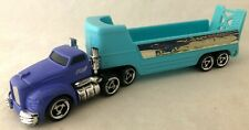 """2001 Mattel HOT WHEELS """"Pavement Pounders"""" Land Speed Trailer With Semi Loose"""
