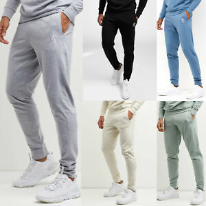 Gym King Mens Jersey Loungewear Jogger Slim Designer Jogging Tracksuit Bottoms