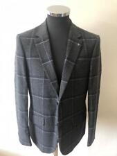 Peter Werth Mens Blazer Jacket Winter Check Boban Grey Navy 40R