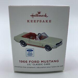 Hallmark 1966 Ford Mustang Keepsake Miniature Ornament Lil Classic Cars 2019