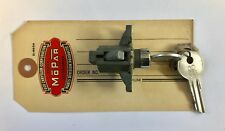 1946,1947,1948 Chrysler Glove Box Door Lock and Key Set, NOS MoPar Logo Keys!
