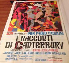 MANIFESTO 4F PIERPAOLO PASOLINI I RACCONTI DI CANTERBURY
